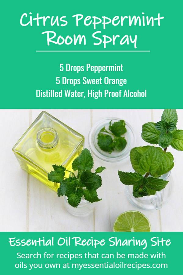 Infographic - Recipe for Citrus Peppermint Room Spray