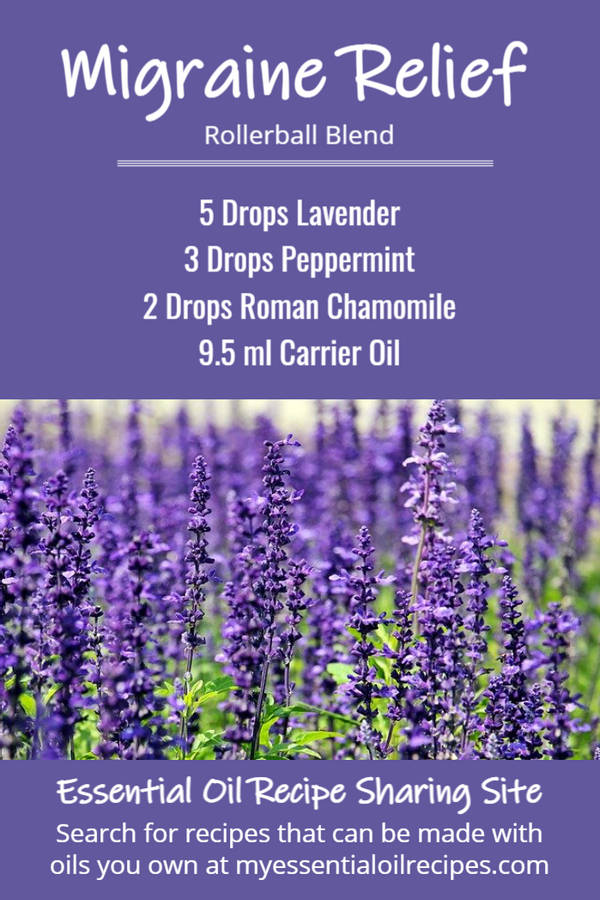Infographic - Recipe for Migraine Relief with Lavender, Peppermint and Roman Chamomile