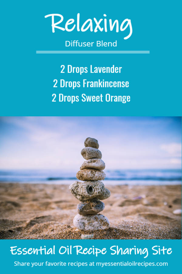 Infographic - Relaxing Diffuser Recipe with Lavender, Frankincense and Sweet Orange