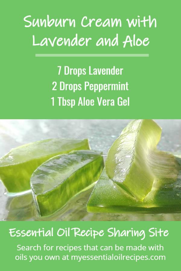 Infographic - Recipe for Lavender and Aloe Vera Sunburn Cream