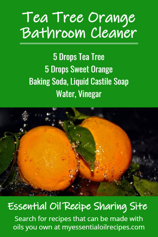 Infographic - Recipe for Bathroom Cleaner with Tea Tree and Orange Essential Oils