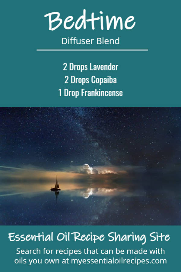 Infographic - Recipe for Bedtime Diffuser Blend with Lavender, Copaiba and Frankincense Essential Oils