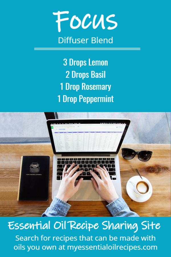 Infographic - Recipe for Focus Diffuser Blend with Lime, Basil and Rosemary Essential Oils