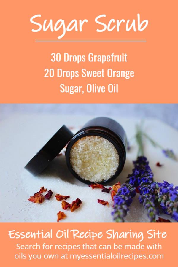 Infographic - Recipe for Sugar Scrub with Sweet Orange and Grapefruit Essential Oils