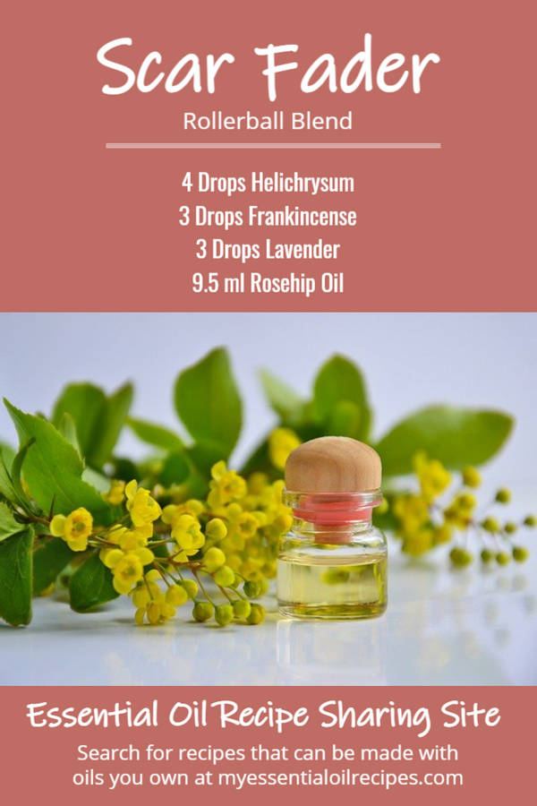 Infographic - Essential Oil Recipe for Scars